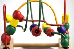 Houten stuk speelgoed voor jonge geitjes Stock Fotografie