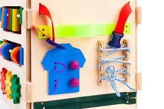 Houten stuk speelgoed voor jonge geitjes royalty-vrije stock foto