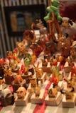 Houten Stuk speelgoed in warm licht royalty-vrije stock foto's