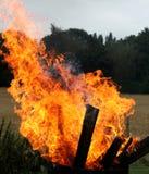 Houten stukkenbrand stock afbeelding