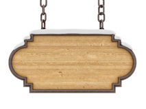 houten teken vector illustratie