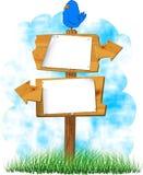 Houten tekens Royalty-vrije Stock Afbeelding