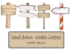 Houten tekens Vector illustratie Stock Afbeelding