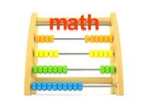 Houten telraam met wiskundetekst Stock Afbeeldingen