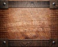 Houten textuur als achtergrond (antiek meubilair) Royalty-vrije Stock Foto's