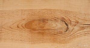 Houten textuur als achtergrond en een knoop en een grote barst op een plank Stock Afbeelding