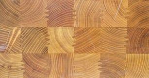 Houten textuur als achtergrond met vierkante houten elementen Stock Foto