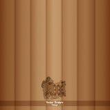 Houten Textuur Bruine houten achtergrond Stock Afbeelding