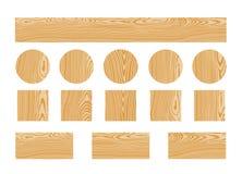 Houten Textuur Geïsoleerd hout op witte achtergrond Royalty-vrije Stock Foto