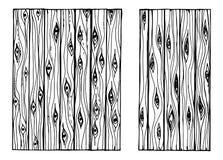 Houten textuur geïsoleerde handtekening Omheining Boards vector illustratie