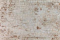 Houten textuur, kleurrijke achtergrond, barsten in de verf, wijnoogst, muur, samenvatting Royalty-vrije Stock Afbeeldingen