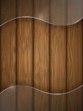 Houten textuur met glas. Stock Foto