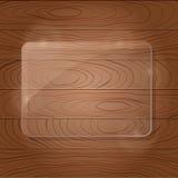 Houten textuur met glaskader Stock Fotografie