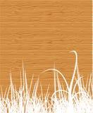Houten textuur met gras royalty-vrije illustratie