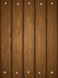 Houten textuur met spijkers. Royalty-vrije Stock Afbeelding