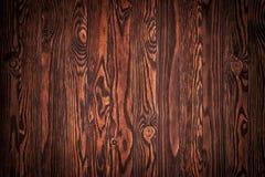 Houten textuur, natuurlijke donkere bruine uitstekende houten achtergrond Royalty-vrije Stock Foto