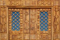 Houten textuur van deuren en raad Royalty-vrije Stock Afbeeldingen