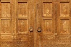 Houten textuur van deuren en raad Stock Foto