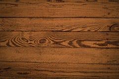 Houten textuur van horizontale raad in een bruine kleur stock afbeelding