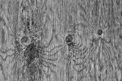 Houten textuur zeer oude zwart-wit Royalty-vrije Stock Fotografie