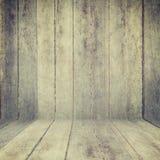 Houten textuurachtergrond oud houten muur en vloerperspectief voor Royalty-vrije Stock Afbeeldingen