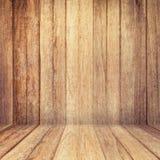 Houten textuurachtergrond oud houten muur en vloerperspectief voor Royalty-vrije Stock Foto's