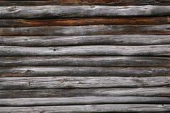 Houten textuurachtergrond van oude logboeken Stock Afbeelding