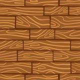 Houten textuurachtergrond Vector naadloos patroon Stock Fotografie