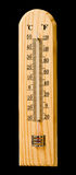 Houten thermometer Royalty-vrije Stock Foto's