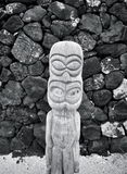 Houten Tiki (B&W) royalty-vrije stock foto's