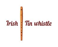 Houten Tin Whistle royalty-vrije illustratie
