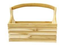 Houten toolbox Royalty-vrije Stock Afbeeldingen