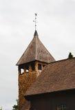 Houten toren met een windwijzer Royalty-vrije Stock Foto