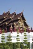 Houten Traditionele architectuur in MAI Chiang Stock Afbeeldingen