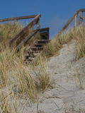 Houten treden aan het strand Royalty-vrije Stock Afbeeldingen