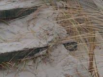 Houten treden in de duinen Royalty-vrije Stock Foto