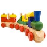 Houten trein Stock Foto's