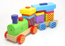 Houten treinstuk speelgoed Royalty-vrije Stock Foto's