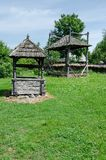 Houten trekken-goed fontein Royalty-vrije Stock Foto