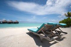 Houten tropische stoel Stock Foto's