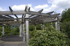 Houten tuinpaviljoen Royalty-vrije Stock Afbeelding