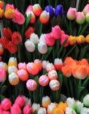 Houten tulpen Stock Foto