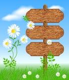 Houten uithangbord stock illustratie