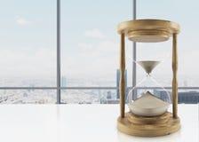 Houten uurglas Stock Foto's