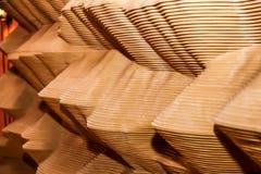 Houten van strepenlagen en golven patroontextuur Stock Foto's