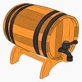 Houten vat bier stock illustratie