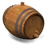 Houten vat voor wijn Stock Fotografie