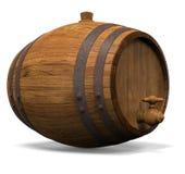 Houten vat voor wijn Royalty-vrije Stock Fotografie