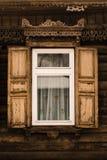 Houten venster 2 stock foto's