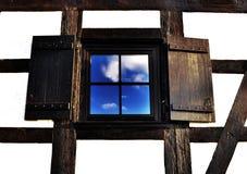 Houten venster Royalty-vrije Stock Fotografie
